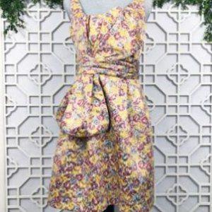 Zac Posen Dress Brocade Floral Multi-color Size 7